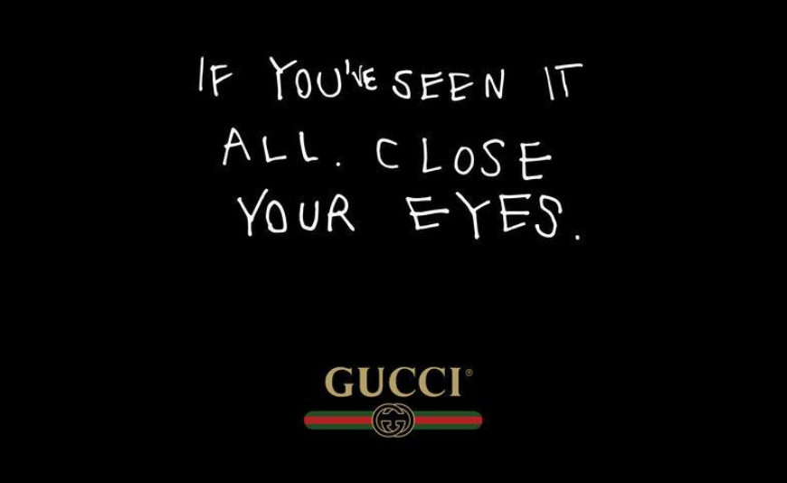 WELCOME TO THE MAGIC WORLD OF GUCCI